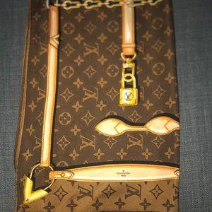 Louis Vuitton Accessories - Louis Vuitton Brown Bandeau Square Scarf/Wrap